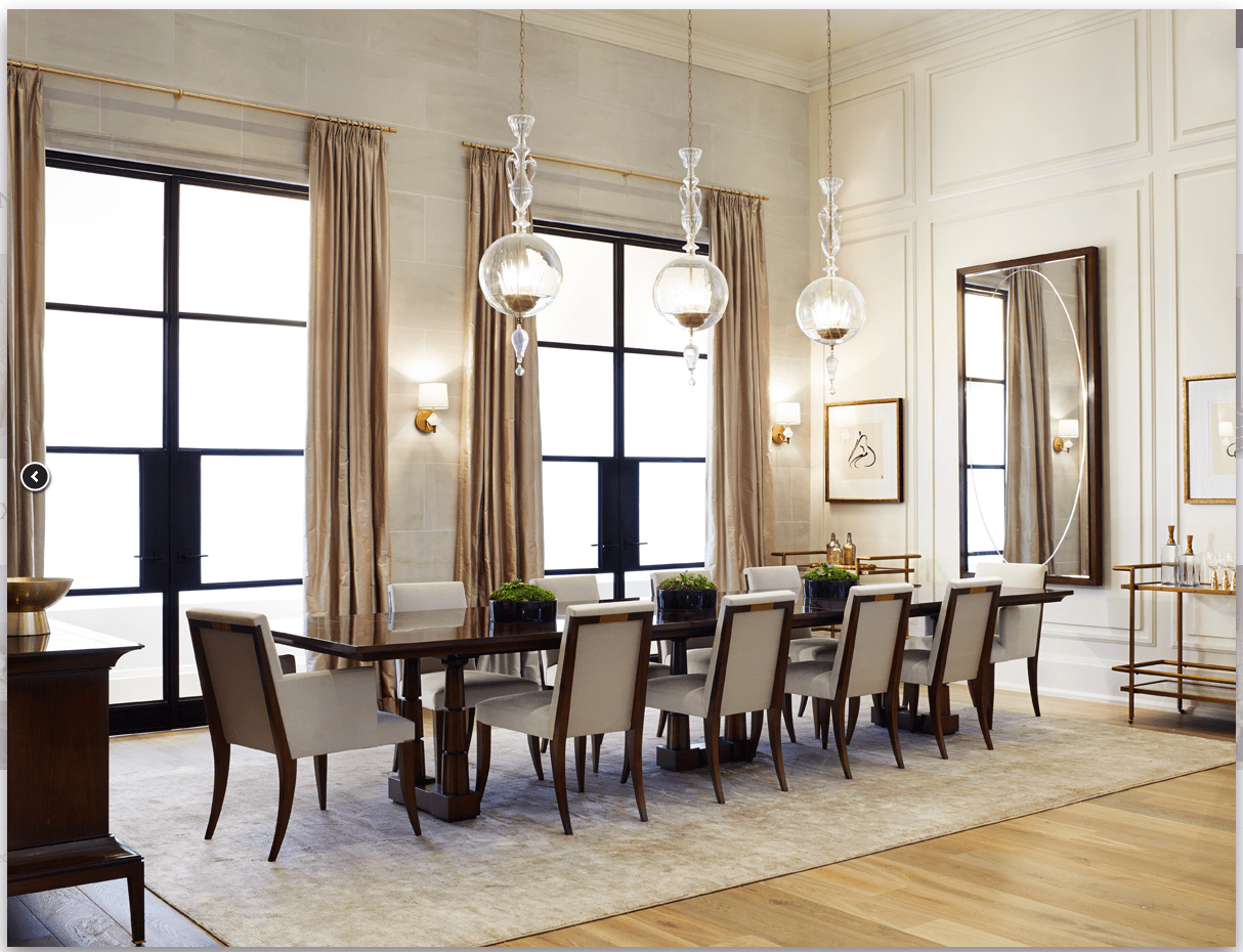 thomas pheasant for baker furniture kitchen table bakers Thomas Pheasant for Baker Furniture featuring the Column Dining Table and Atelier Dining Chairs Rivera