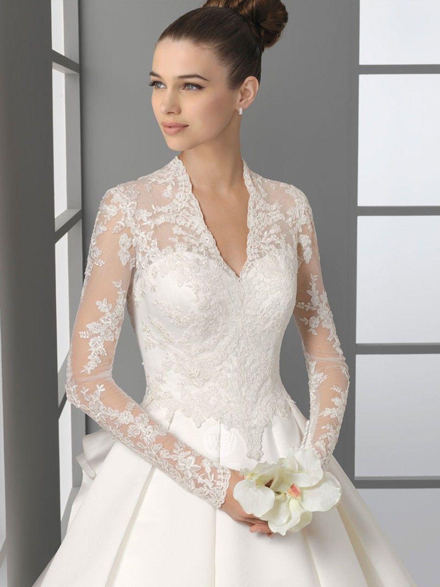 sleeved wedding dress Gorgeous Wedding Dresses Under