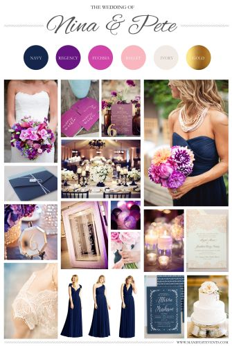 purple and gold wedding A purple navy pink gold wedding board www manifestevents