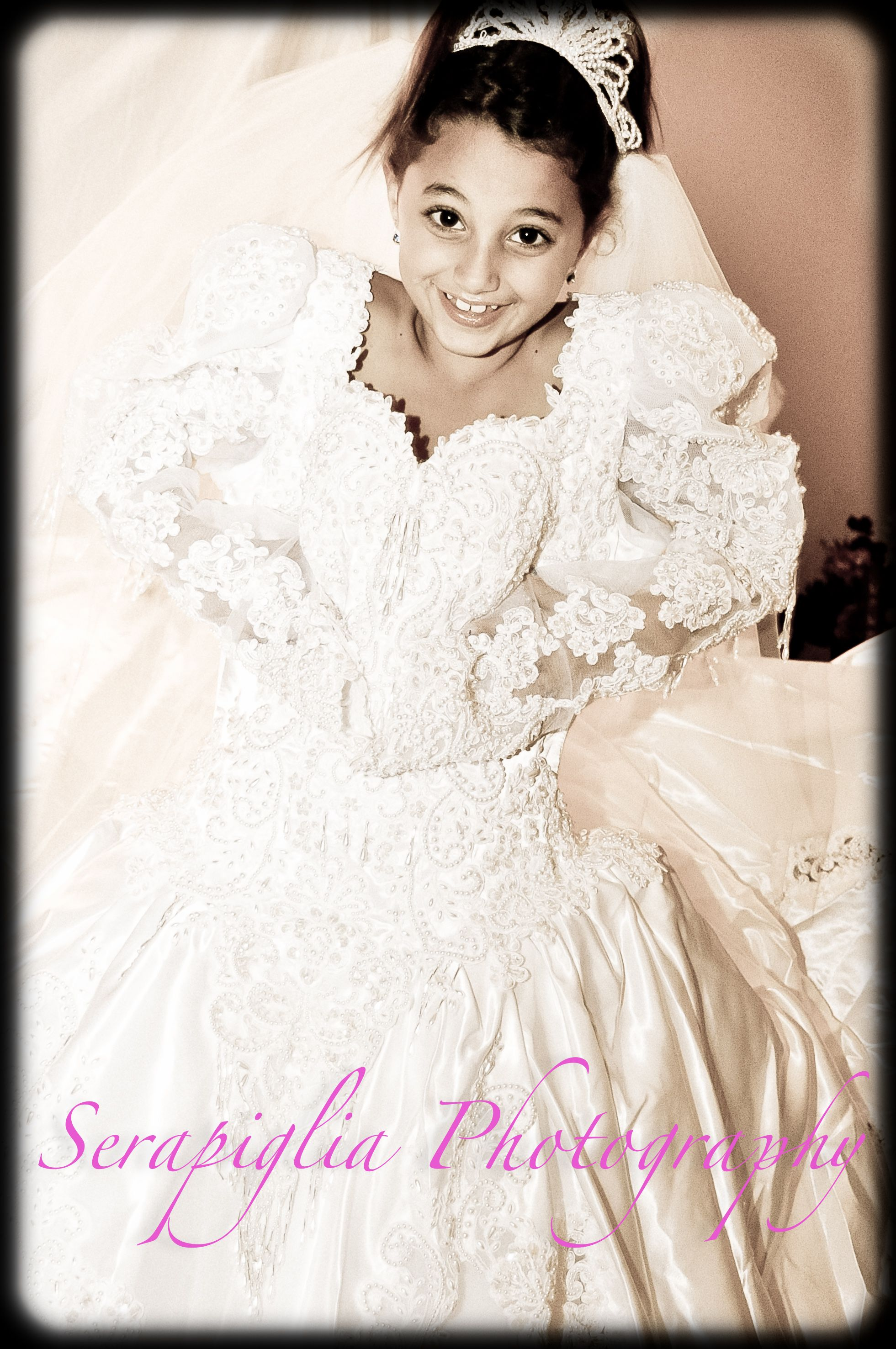 wedding dresses for girls A mother always wants her daughter to wear her wedding dress but it may not be chic to do that in thirty somewhat years why not let your little girl wear