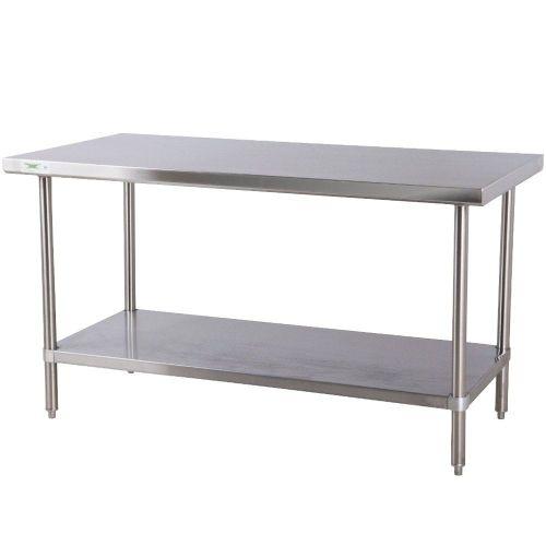 kitchen work table Regency 30 72 16 Gauge Stainless Steel Commercial Work Table with Undershelf