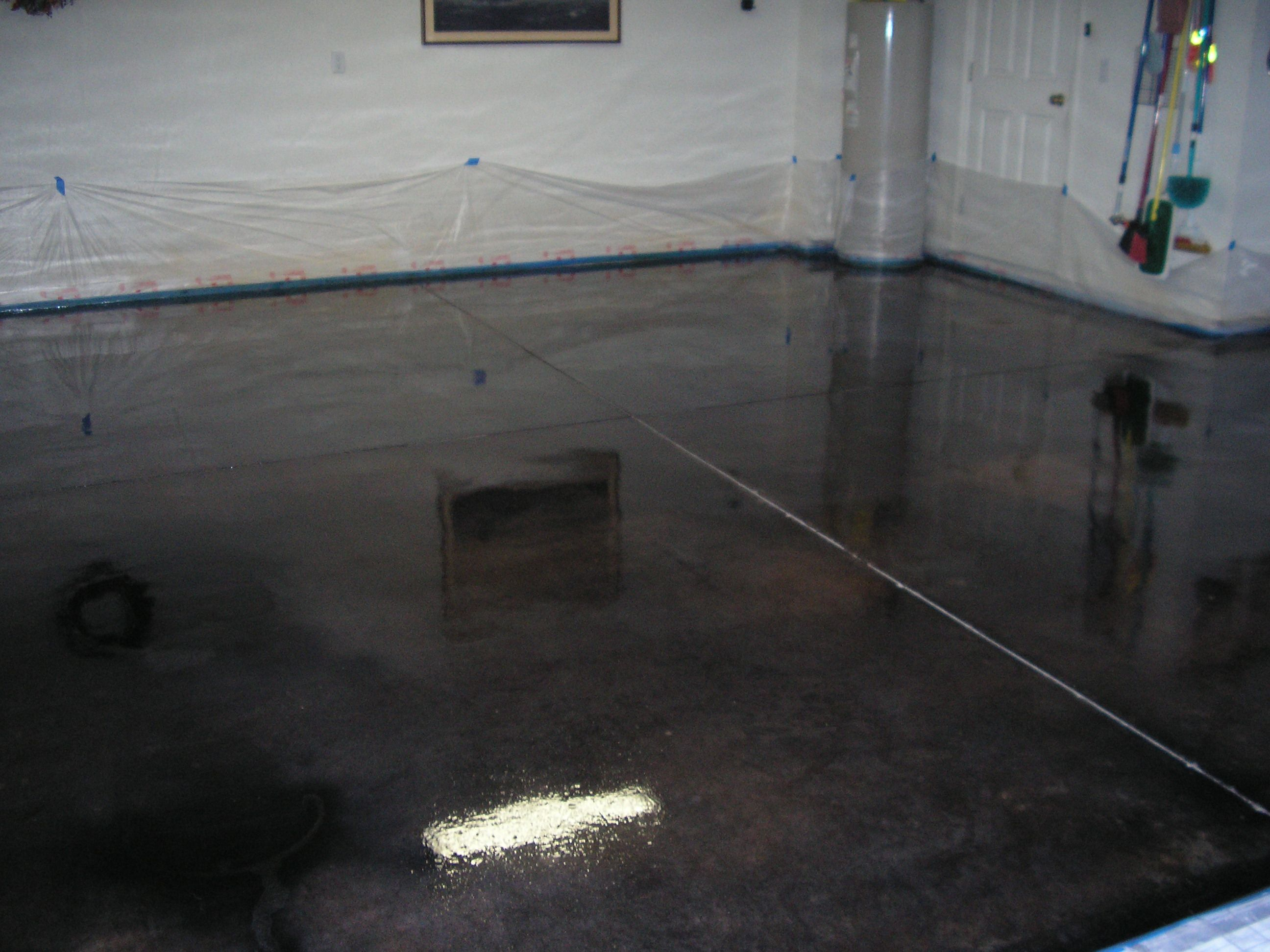 epoxy flooring kitchen Black polished concrete floor for the kitchen
