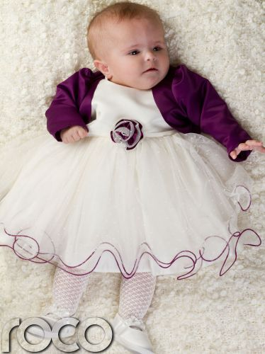 baby wedding dresses Baby Girls Purple Ivory Dress Bolero Jacket Wedding Babys Bridesmaid Dresses in Baby Clothes Shoes Accessories Girls Clothing Months