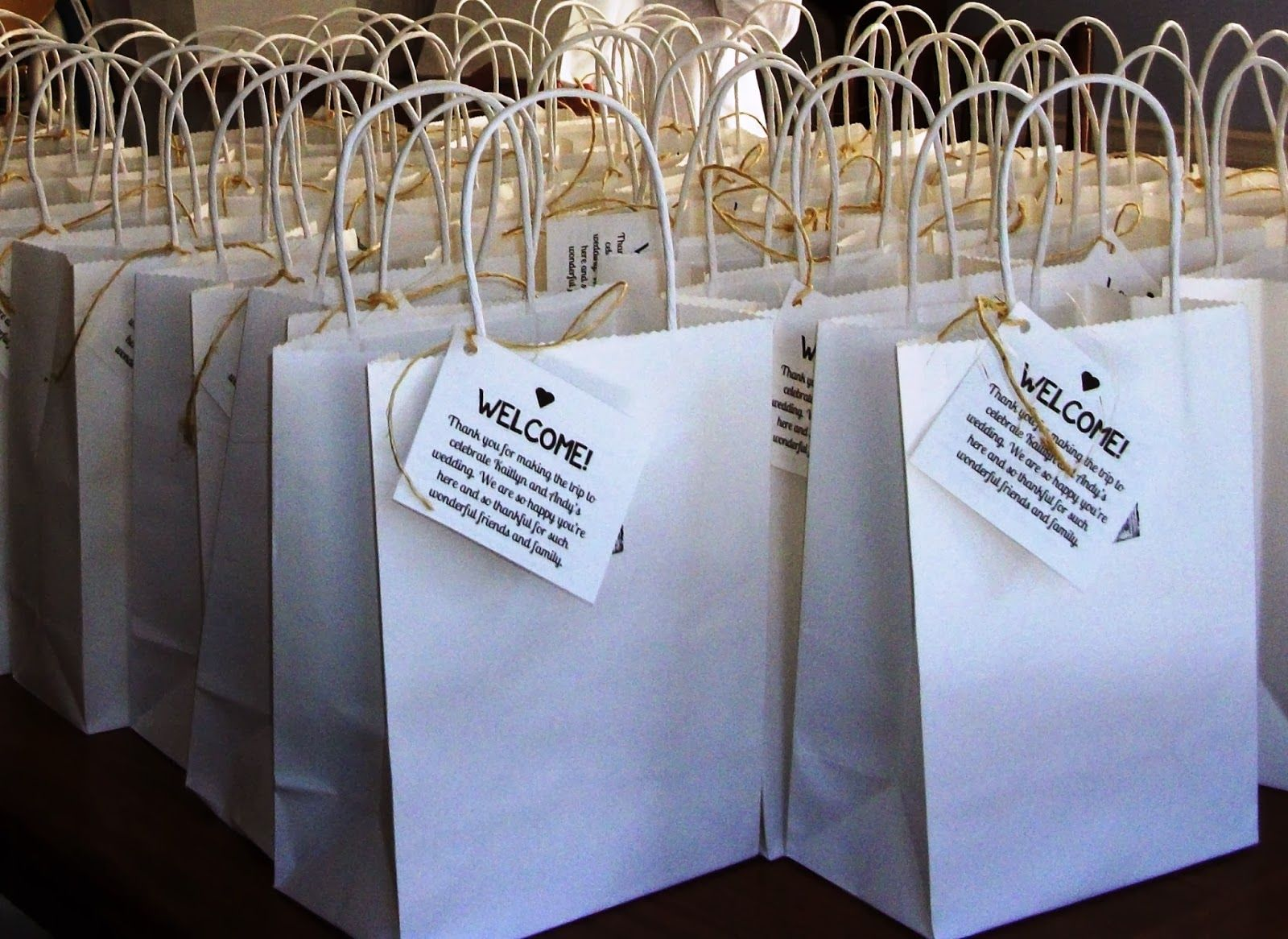hotel welcome bags wedding gifts for guests Lovely Ache Wedding Welcome Bags for Out of Town Guests