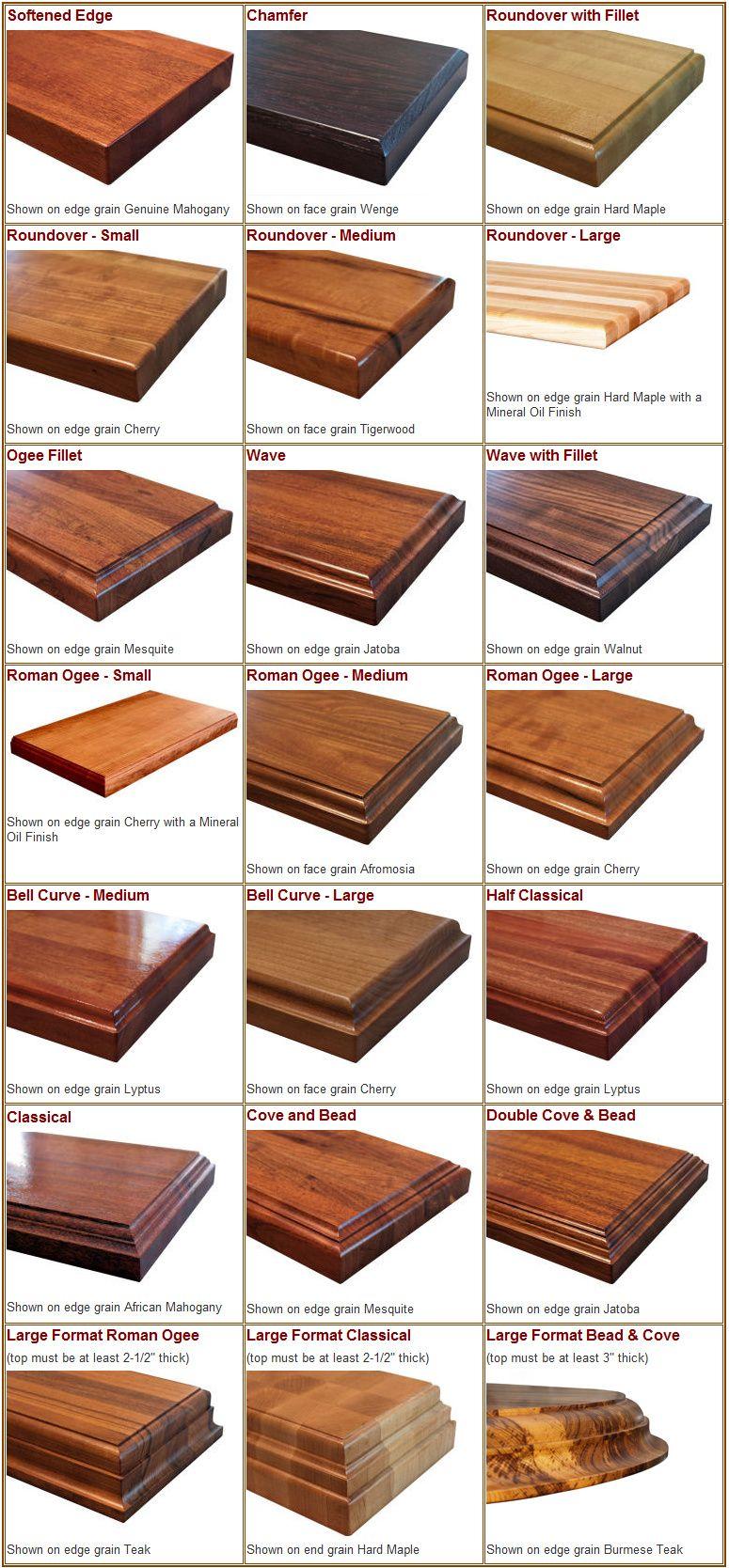 wood countertops kitchen Edge Styles available for solid wood countertops kitchen island tops and butcher block countertops