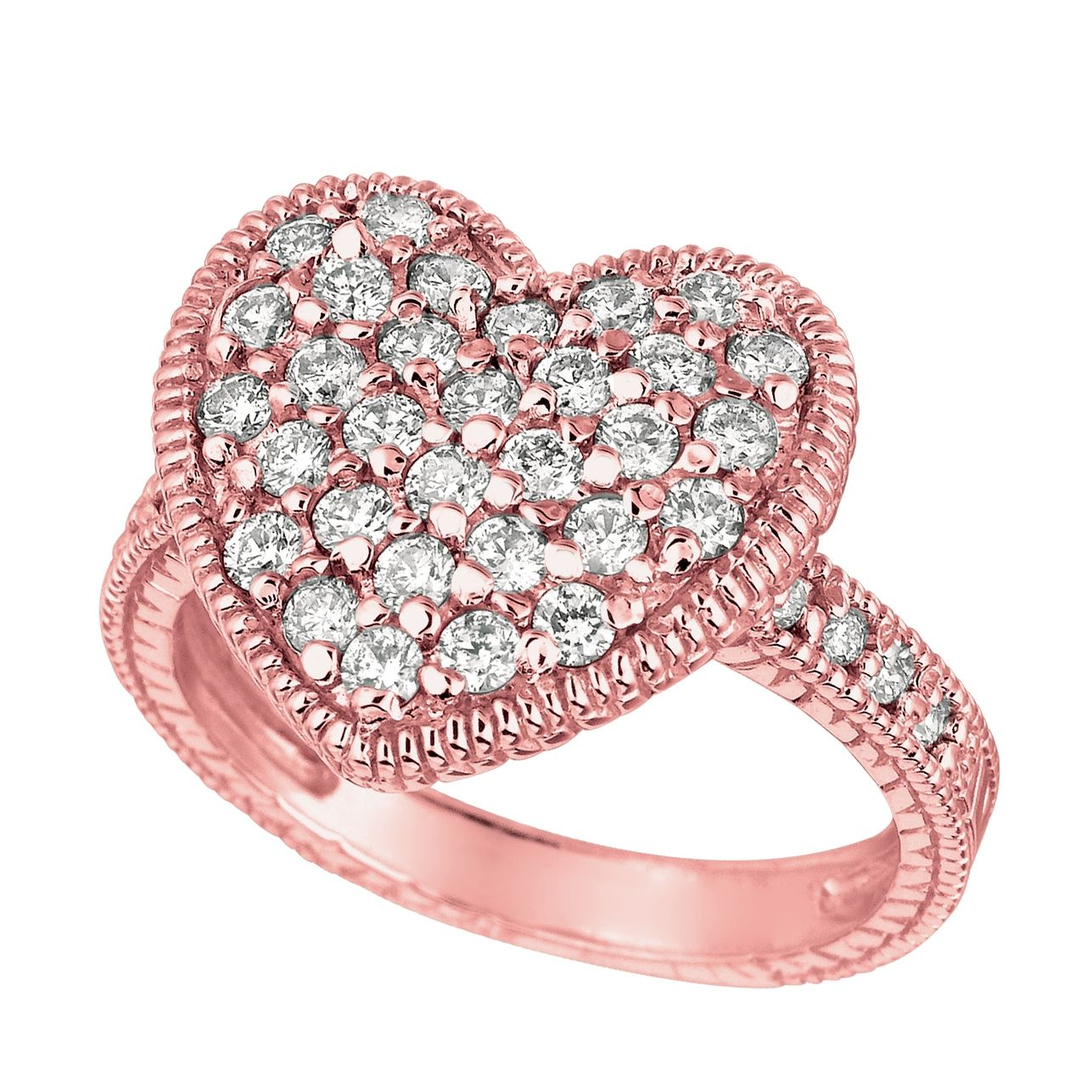 pink diamond wedding rings Pink Heart Shaped Rings Engagement Ring CaratsDiamond