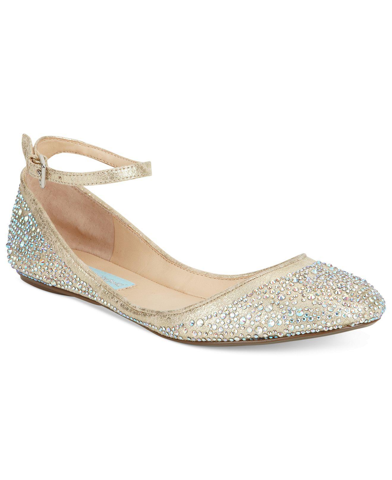 betsey johnson wedding shoes Blue by Betsey Johnson Joy Evening Flats Evening Bridal Shoes Macy s WEDDING