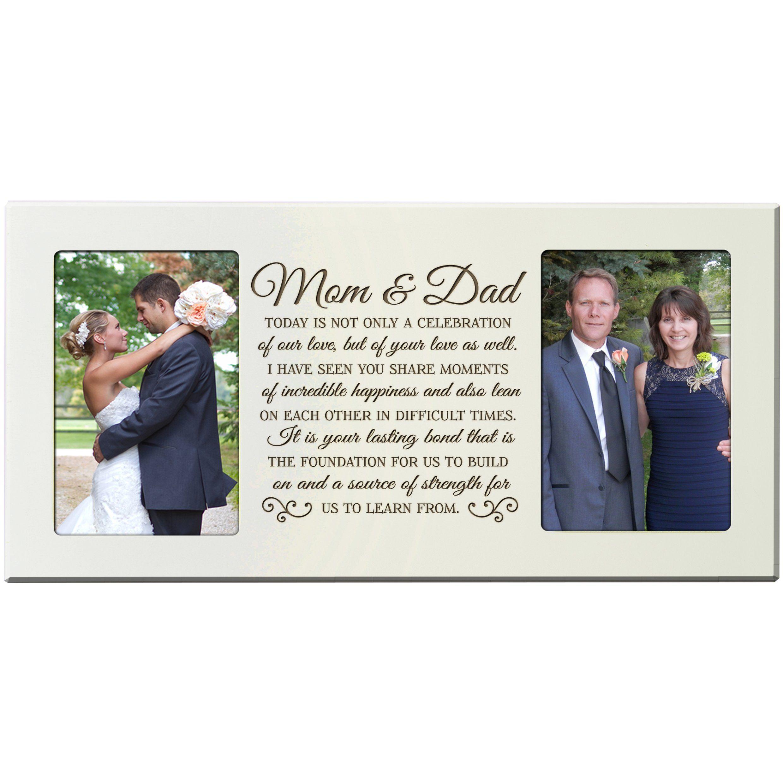 parent wedding gifts Amazon com Parent Wedding Gift Wedding Photo Frame Parent thank you gift