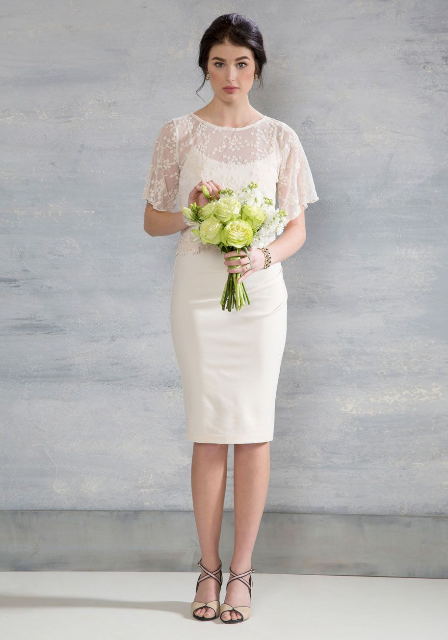cream colored wedding dresses Beyond the Bells Dress in Ivory Long Cream Solid Lace Special