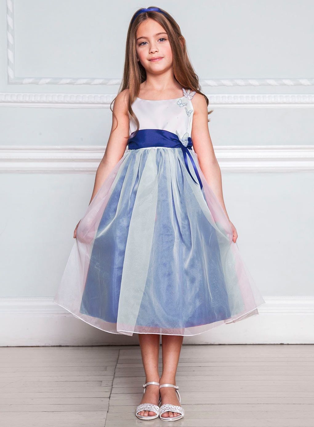 wedding dresses for girls Young Girls Bridesmaid Dresses Lela Butterfly Sapphire Bridesmaid Dress