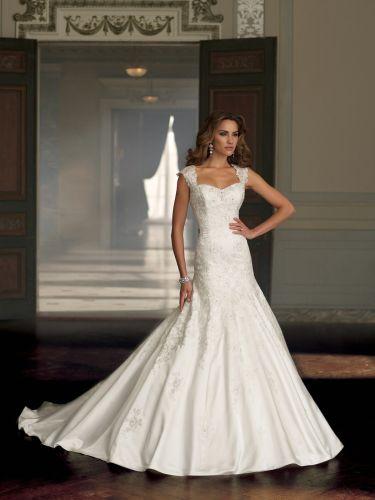 wedding dress with straps Straps Chapel Train Satin Trumpet Mermaid Wedding Dress Wdt