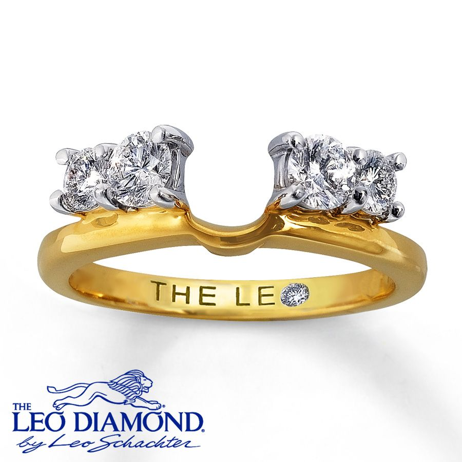 wedding band enhancers images solitaire ring enhancers Kay Diamond Enhancer Ring 3 4 Carat tw Round