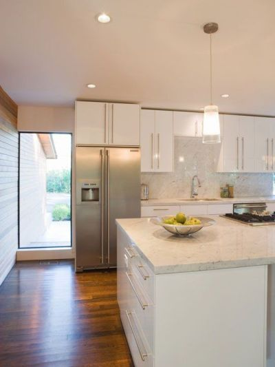 Before & After Renovation: A Granny Kitchen Goes Modern | More Cedar paneling, Modern room and ...
