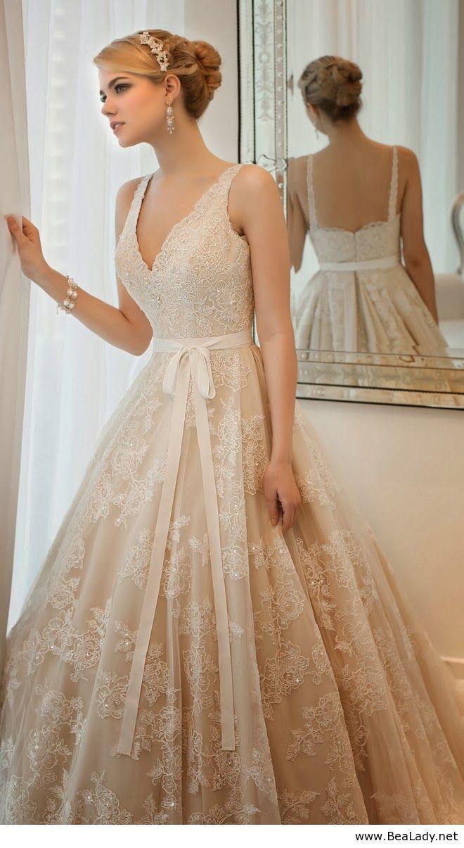 beige wedding dresses Robe mari e beige http mariageenvogue com 08 Nerd Wedding DressWedding