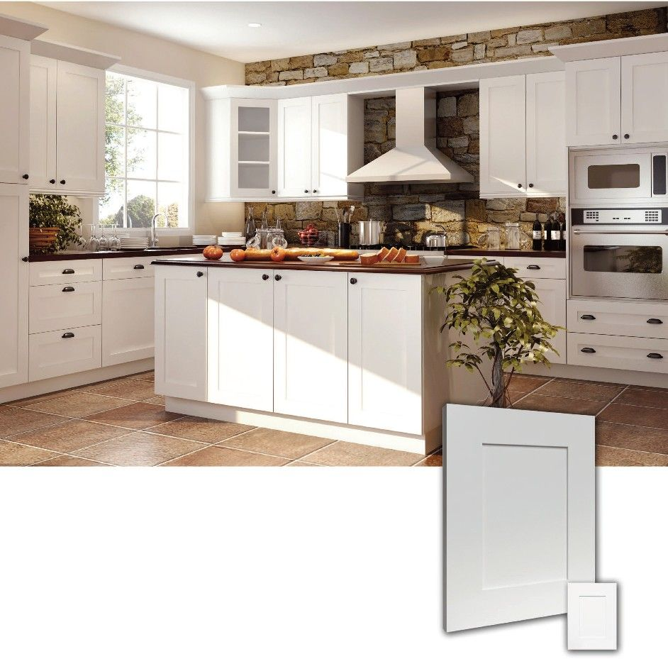 ice white shaker kitchen cabinets shaker style kitchen cabinets Ice White RTA Shaker style Kitchen Cabinets Wood Birch Finish White matching