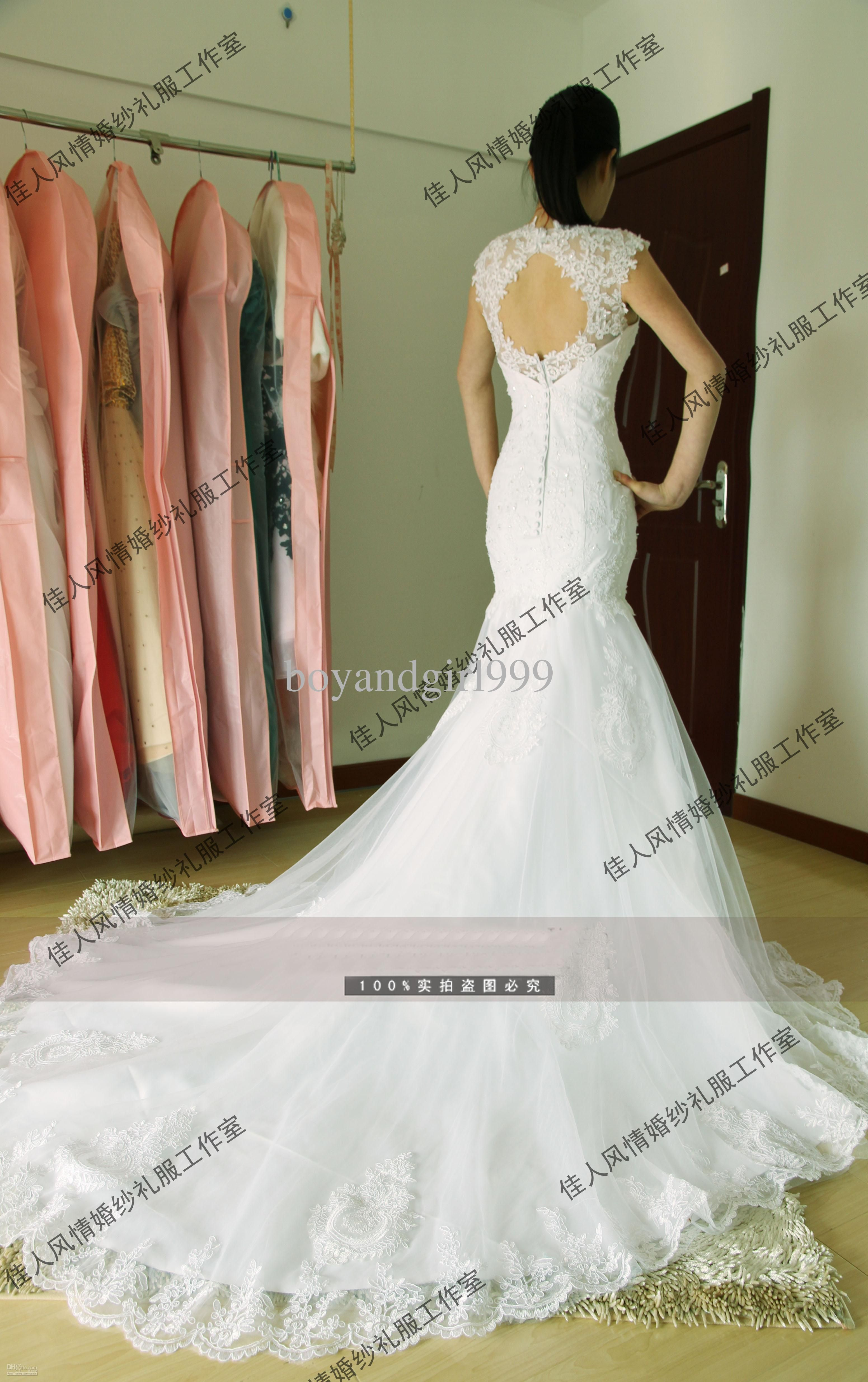 backless wedding dresses Sweetheart Sexy Backless Lace Wedding Dresses Fish Tail Long