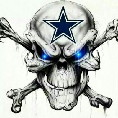Dallas Cowboys Skull | Theres a star on the field because we are one! | Pinterest