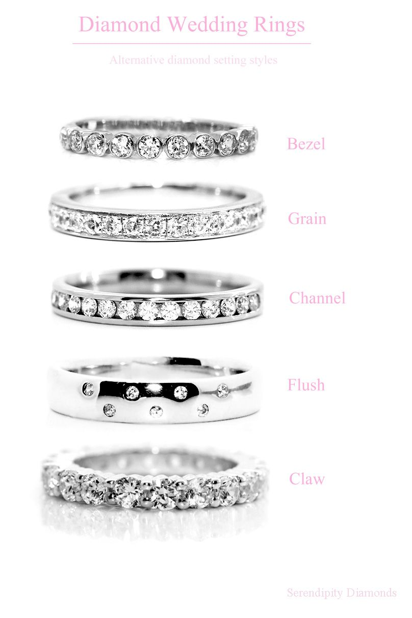 shane company wedding bands Wedding rings diamond setting styles for wedding rings Although I would call the claw setting a prong set style