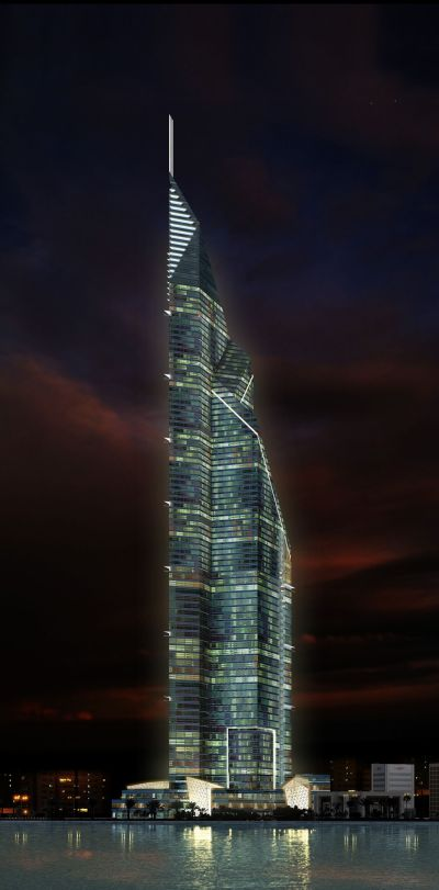 Dubai Towers Doha, Qatar by RMJM Architects :: 84 floors, height 445m | Architecture :: high ...