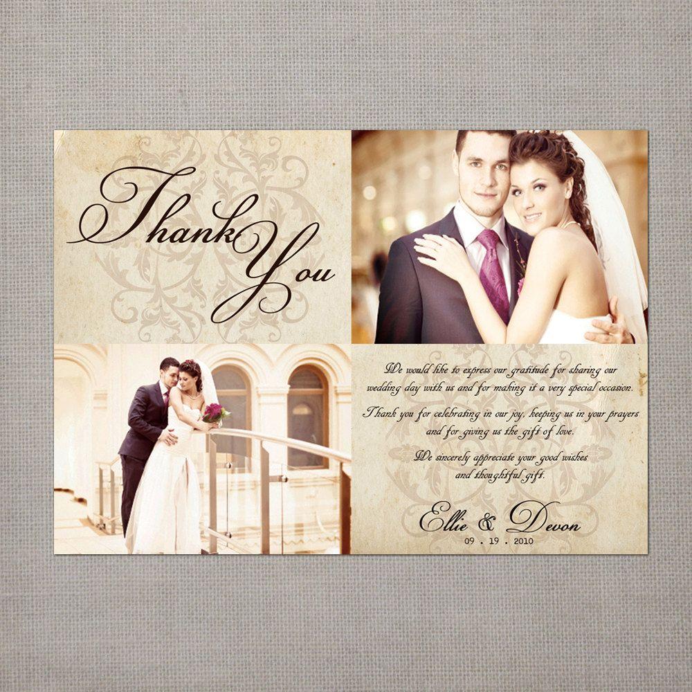 thank you cards wedding Vintage Wedding Thank You Cards Wedding Thank You Cards the Ellie