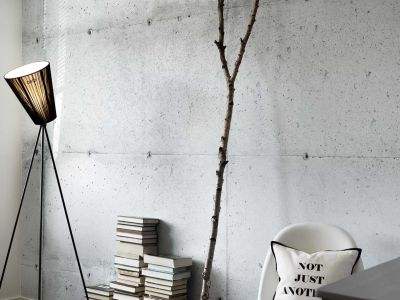 Industrial look is just a roll of wallpaper away-The Concrete Wall collection is designed by ...