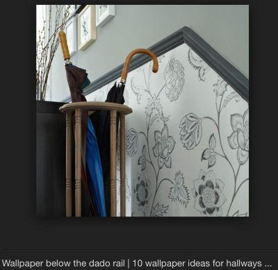 Wallpaper below dado rail   For the Home   Pinterest ...