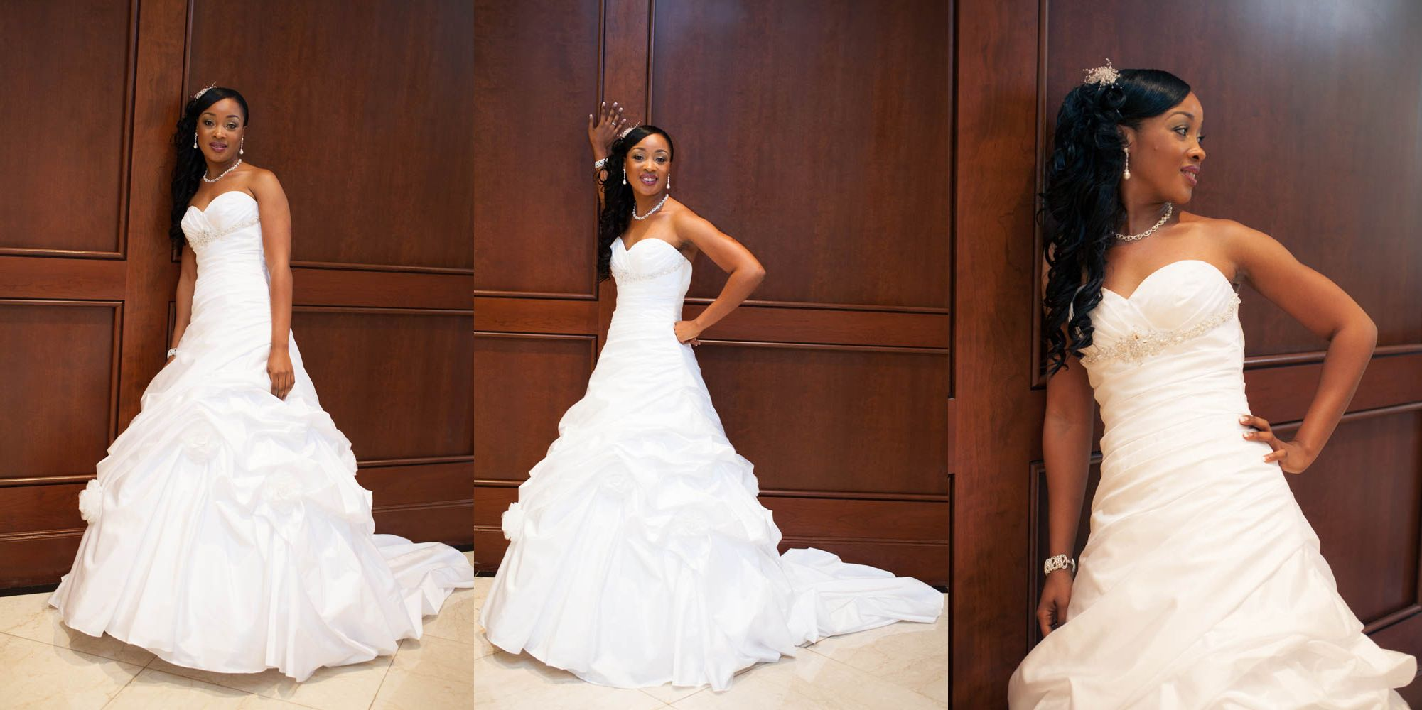 wedding dresses for black brides african american wedding dresses White and Gold Wedding African American
