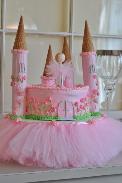 Ballerina princess castle cake. | Little girl birthday parties | Pinterest | Princess castle ...