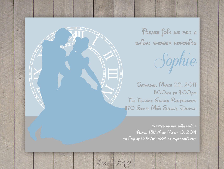 staples wedding invitations Bridal shower invitation Cinderella Digital file