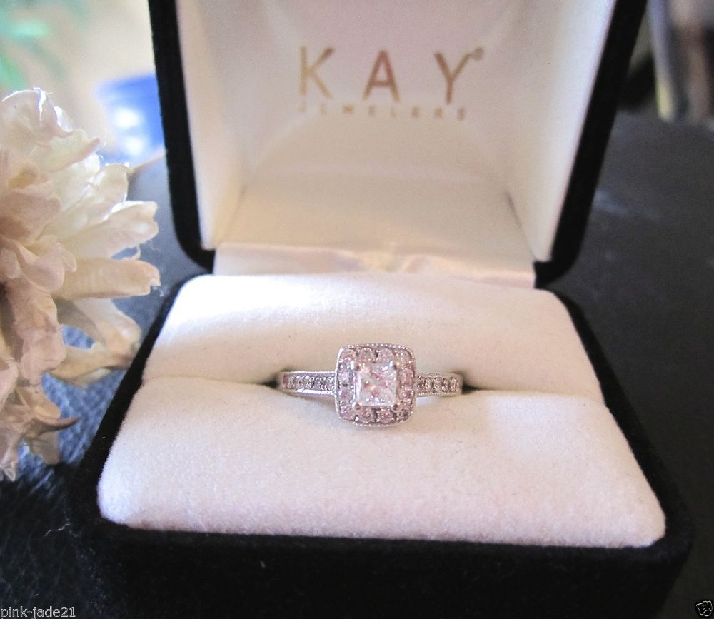 kay jewelers wedding ring Kay Jewelers engagement ring in rose gold with emerald cut I Style I https www theknot com fashion kay jewelers engagement r