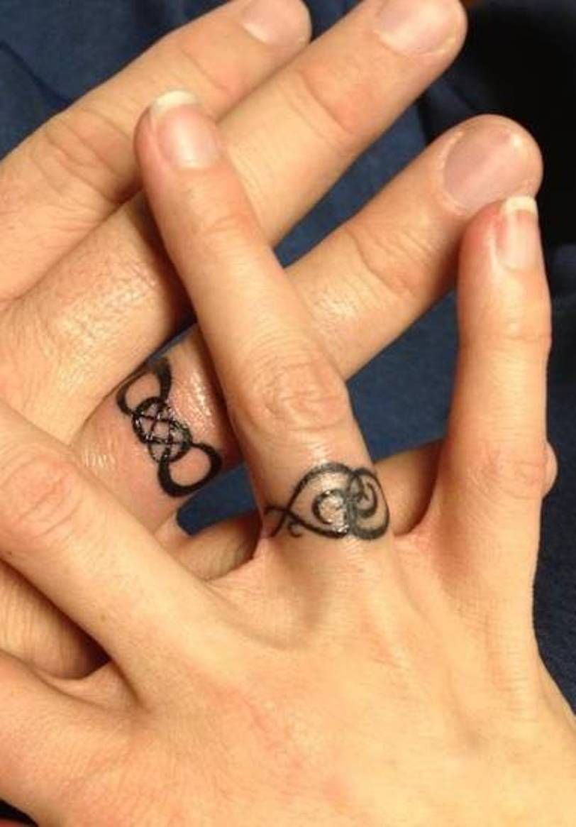 infinity wedding band Infinity Tattoo Ideas Infinity Wedding Ring Tattoos Designs Beautiful Wedding Ring Tattoos
