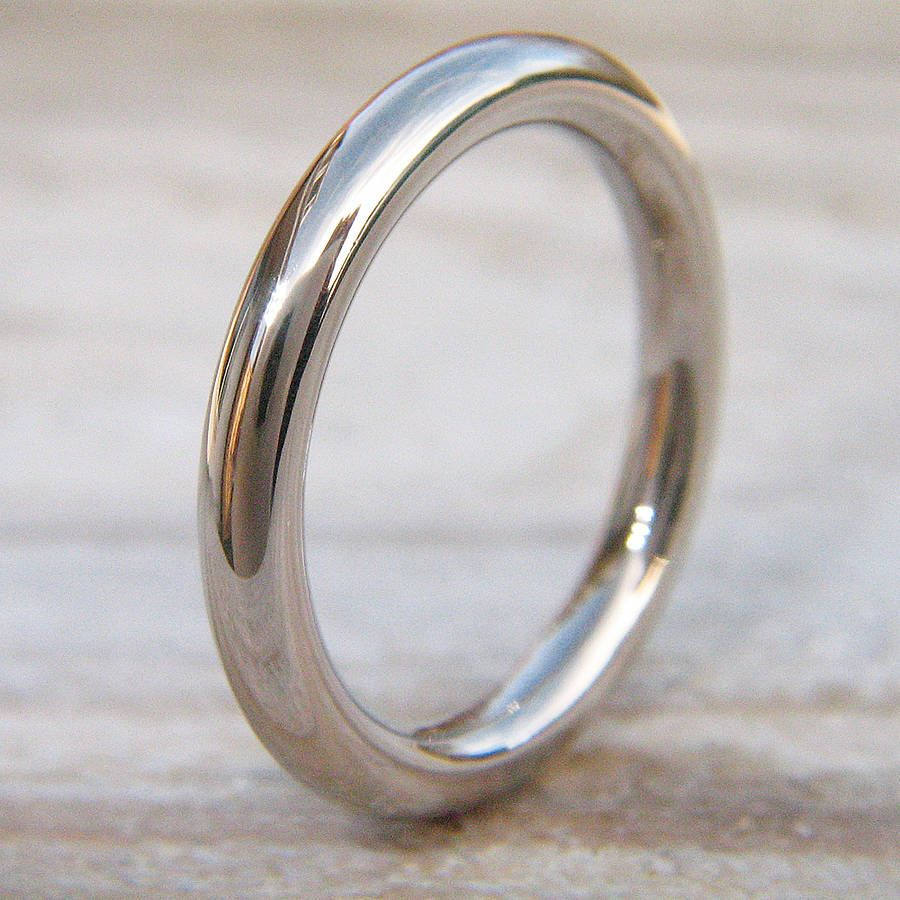 palladium wedding bands 3mm Halo Wedding Ring In 18ct Gold Or Platinum