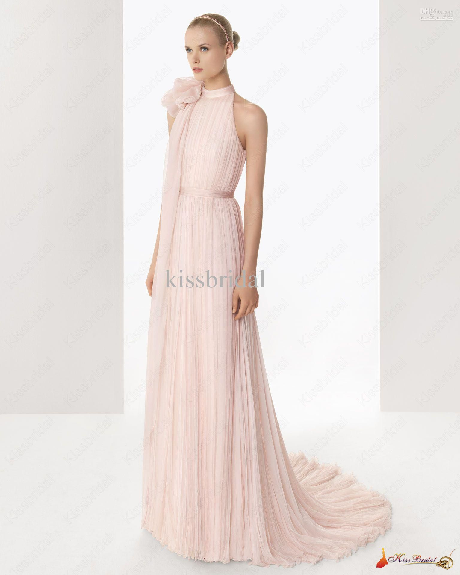 light pink wedding dress Light Pink Wedding Dresses Wholesale Hot Style Charming Bridal Dress Gown Light Pink A