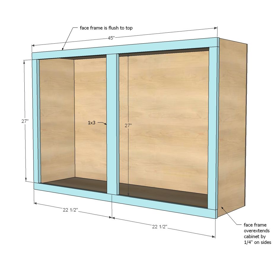 kitchen cabinet plans Ana White Build a 45 Wall Kitchen Cabinet Free and Easy DIY Project