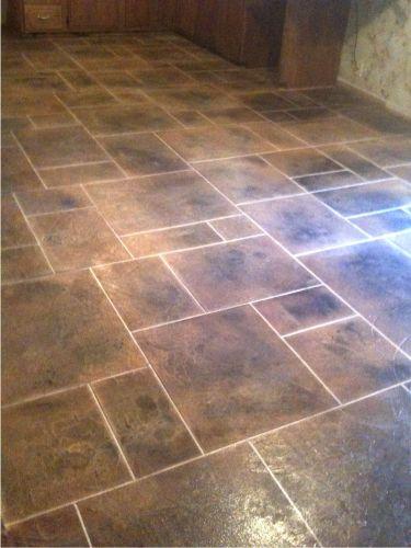 kitchen floor tile designs Kitchen Floor Tile Patterns concrete overlay random pattern stone tile kitchen floor