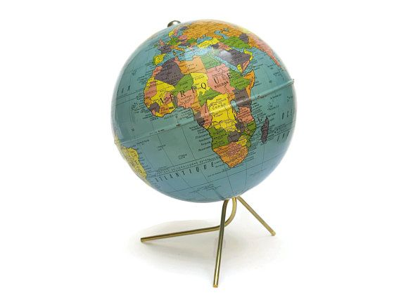 Vintage French Map Globe  Cartes Taride World Globe  Desk   A Love     Vintage French Map Globe  Cartes Taride World Globe  Desk