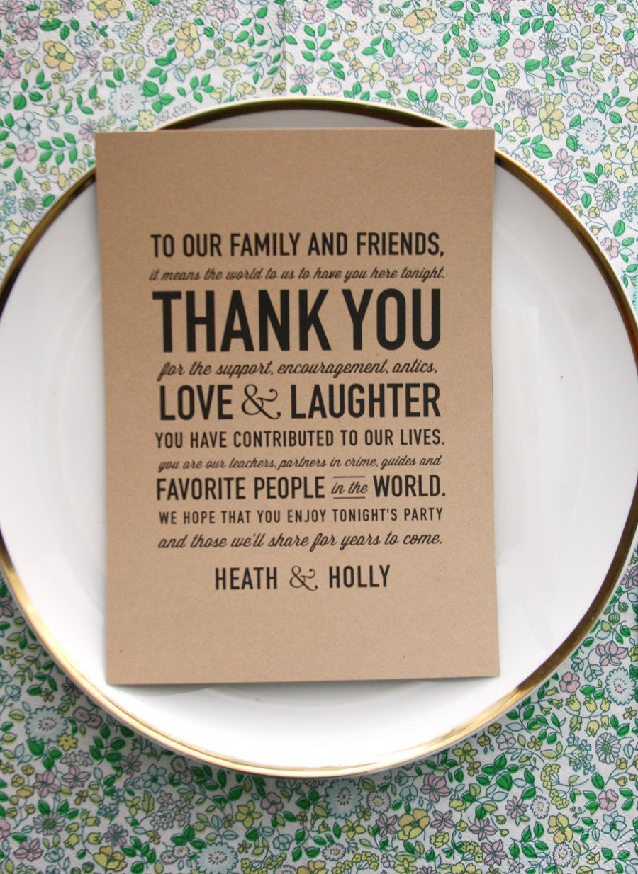 thank you cards wedding wedding reception thank you card So sweet and makes a huge impact statement