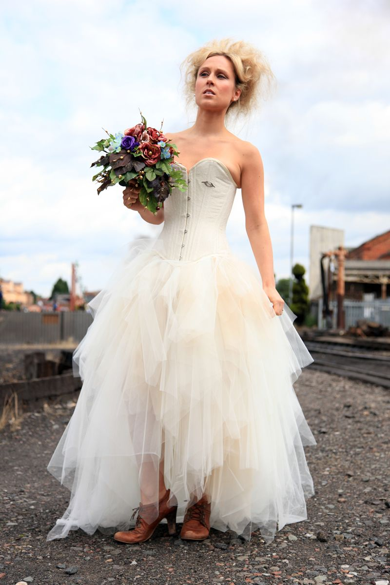 steampunk wedding dresses Wedding Dress Elegant Punk Style Wedding Dresses Collection Sweetheart Steam Fit and Flare Punk