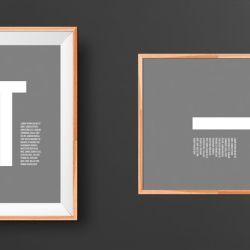 Wooden Art Frame v 2 Signs Billboards Mockup Pinterest