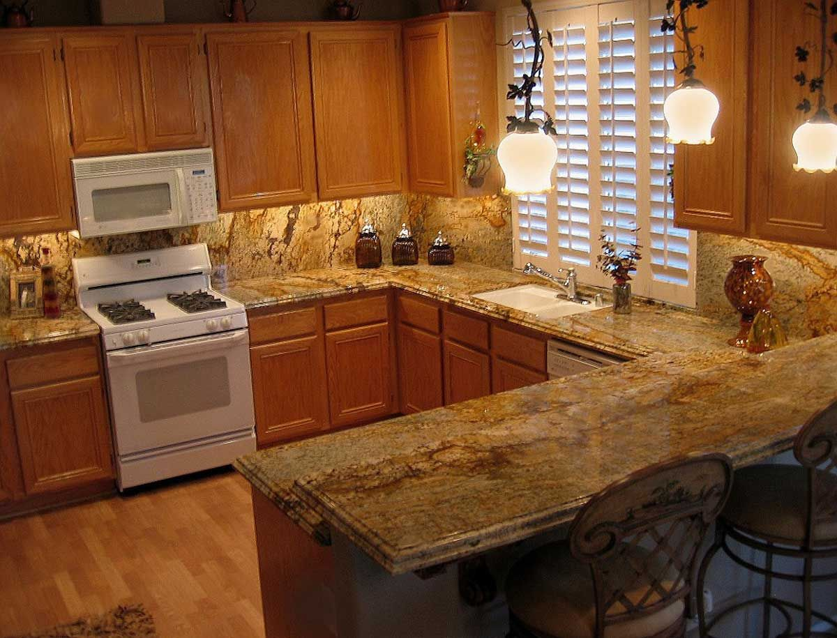 kitchen countertops for kitchen Awful kitchen but counter looks familiar Trendy Yellow River Granite Kitchen Countertop