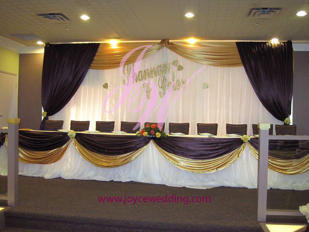 purple and gold wedding Purple and Gold Wedding Decoration