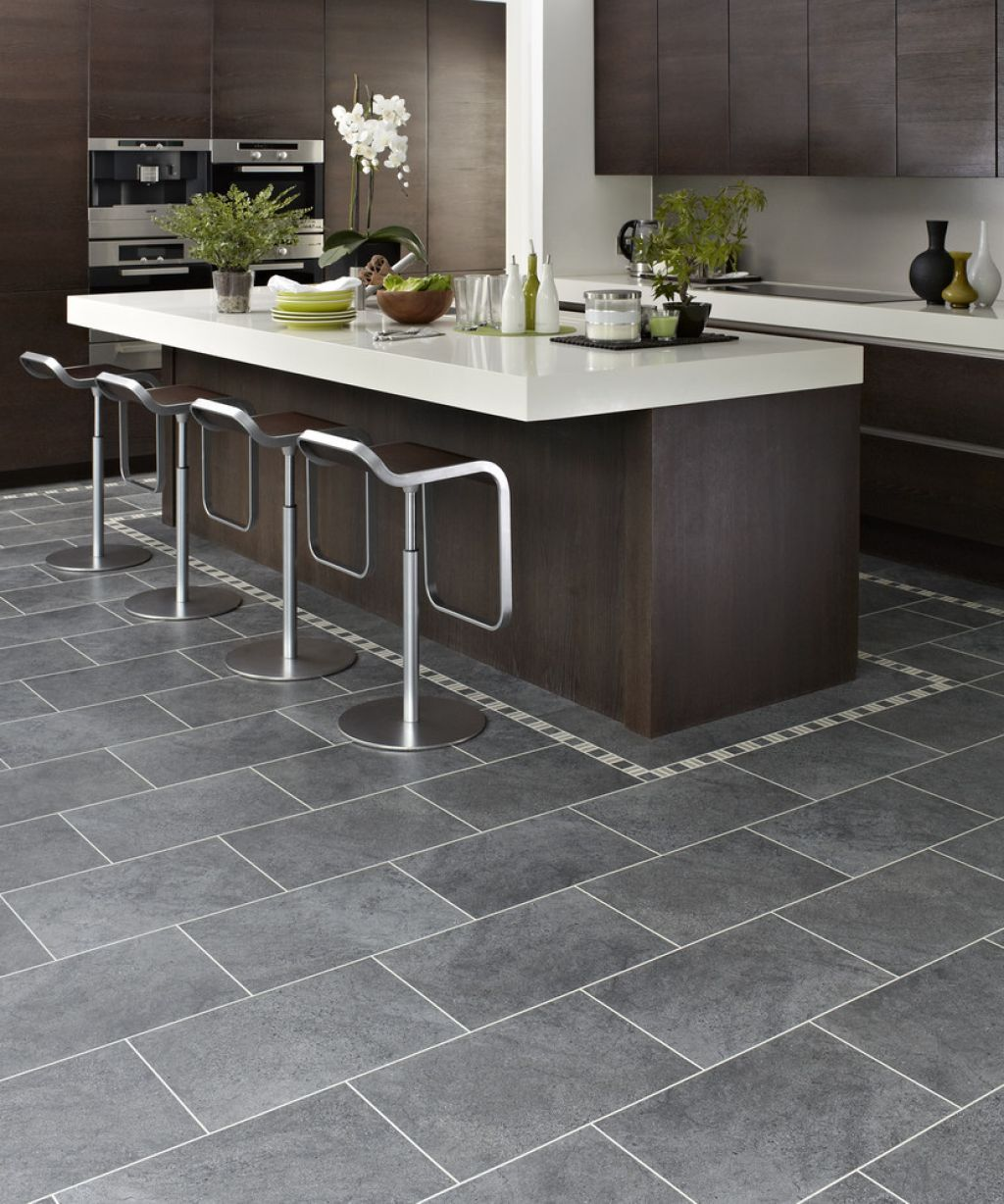 gray kitchen floor For advice you can trust and a large selection of high quality products to choose from book a in home consultation with Express Flooring in Chandler today