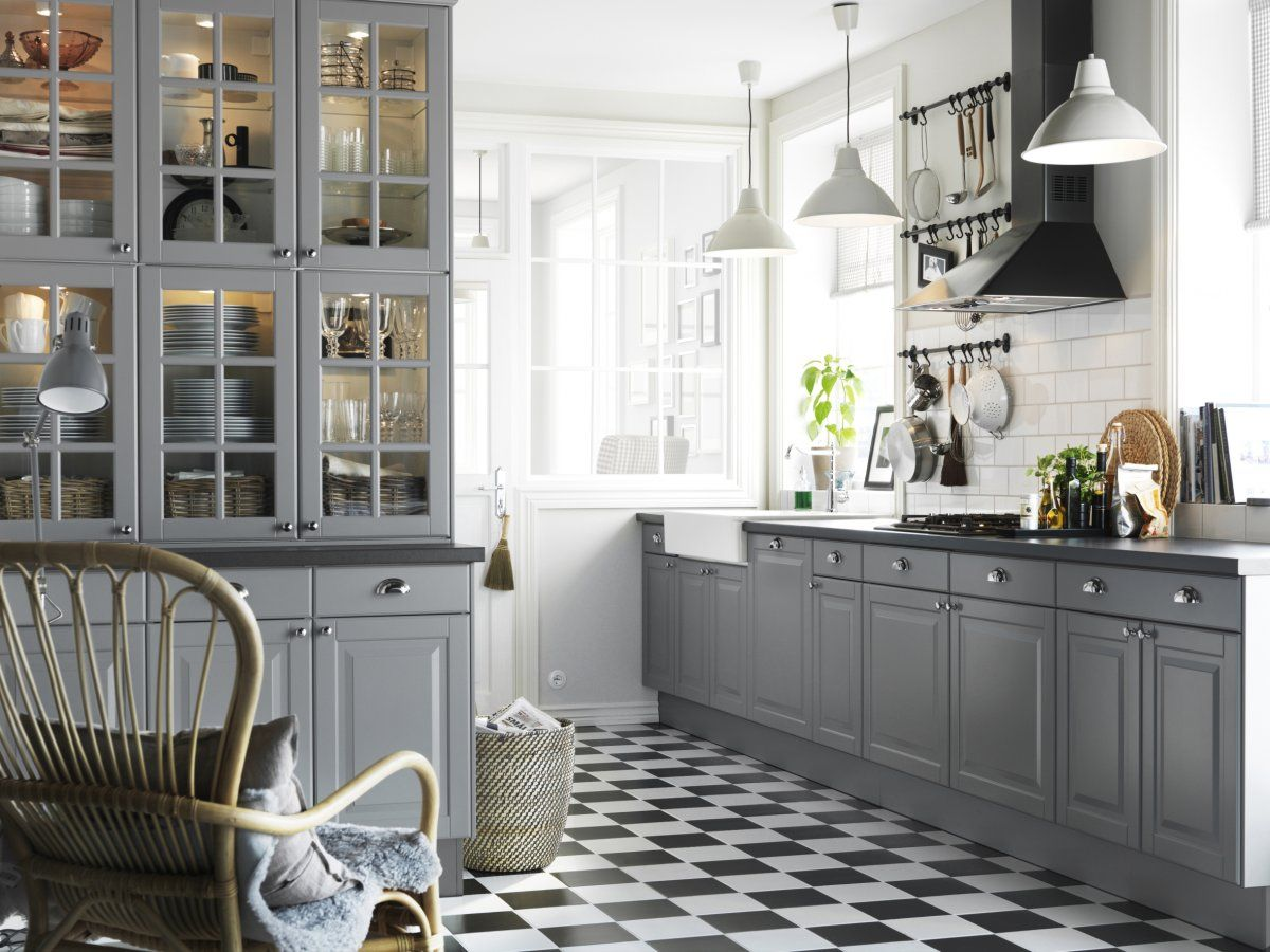 ikea kitchen lighting Kitchen Usual Ikea Kitchen White Lamps Grey Cabinets White Walls Glass Pocket Cabinet Doors Black