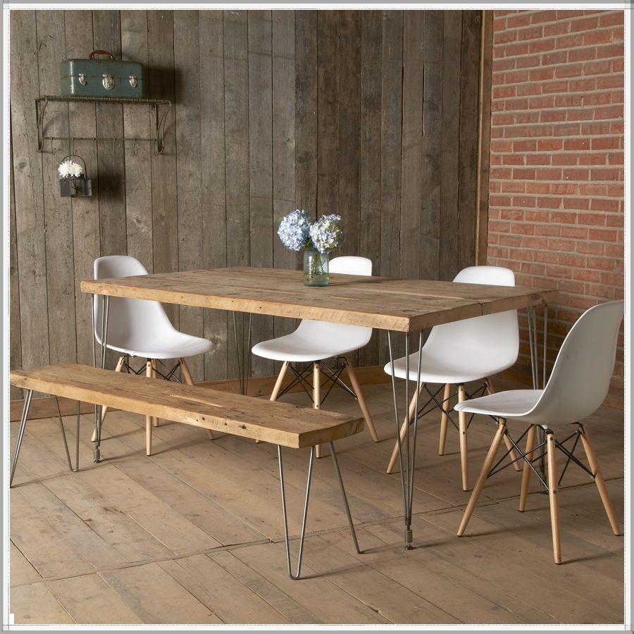 wood kitchen tables Modern reclaimed wood dining table Mid Century Furniture Urban Loft