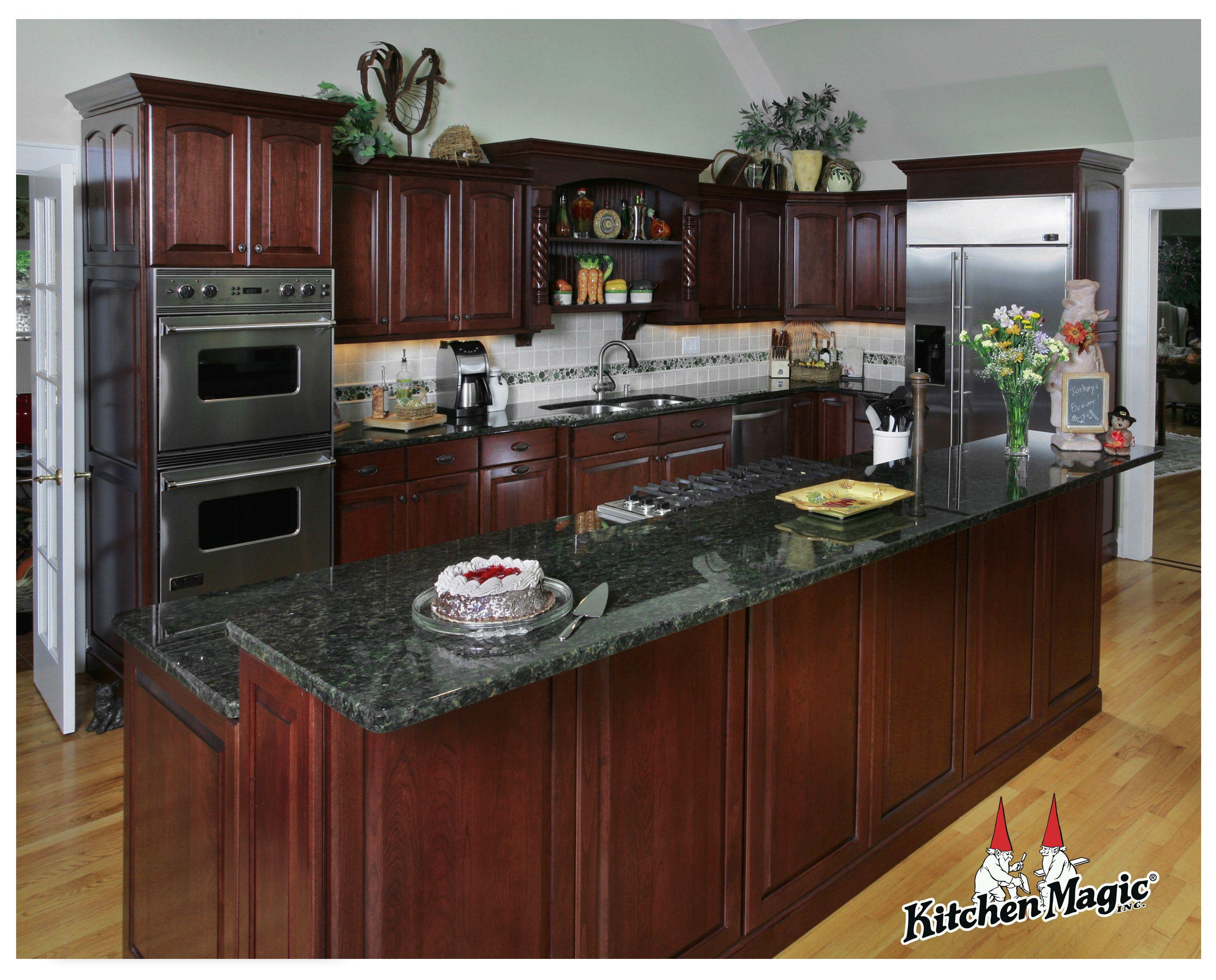 kitchen design cherry wood cabinets kitchen Cordovan Cherry Wood Cabinets Kitchen Magic Inc This is