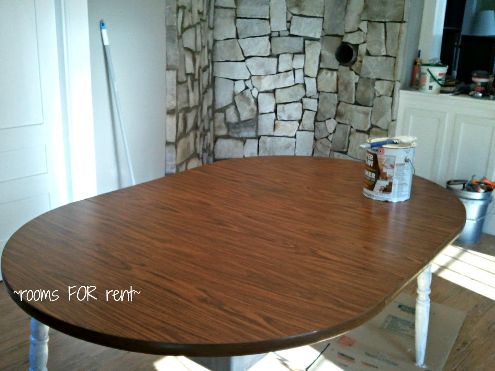 refinishing kitchen table Refinishing a large table with gel stain She has some good tips and achieved a nice effect Furniture Get Creative Pinterest Stains Java and Java