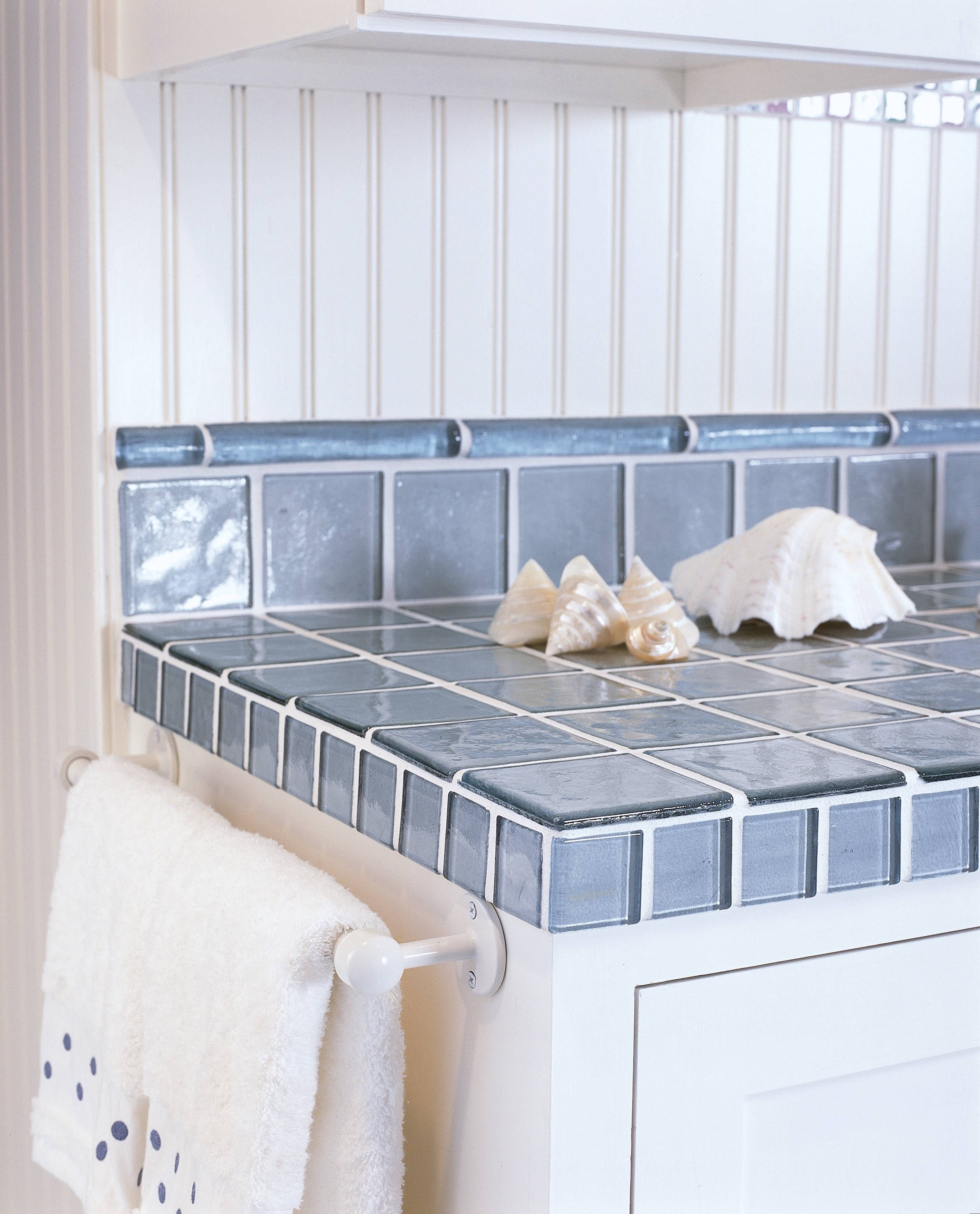 unique kitchen countertops Image Gallery of Recycled Glass Tile Counters