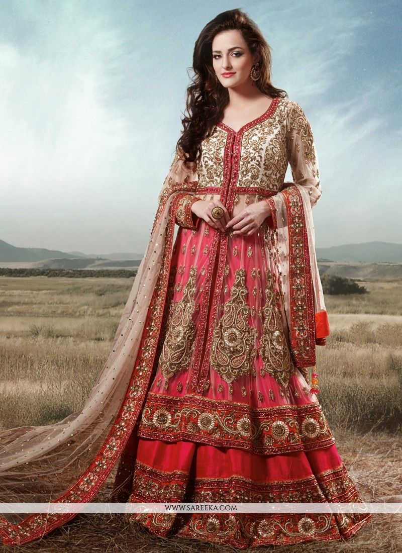 wedding lehenga Preety Red Stone Work Bridal Lehenga Choli