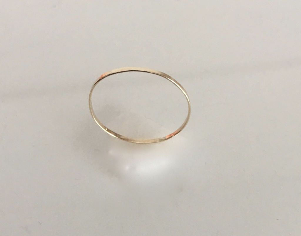 dainty wedding bands 14k Dainty wedding band solid 14k yellow gold knuckle ring stacking rings