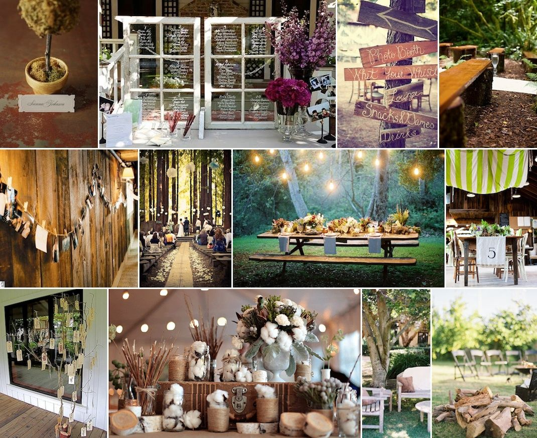 rustic wedding centerpieces rustic wedding ideas Cheap Rustic Wedding Decor Photograph Rustic Forest Weddin